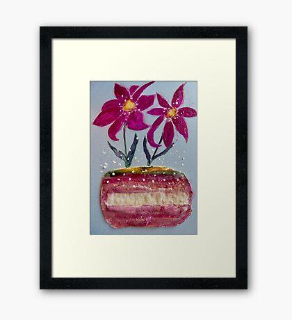 Flower in a Vase Framed Print