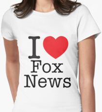 I LOVE Fox News Womens Fitted T-Shirt