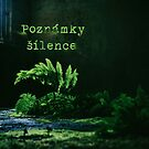 Ferns with text Poznámky šílence by Lenka Vorackova