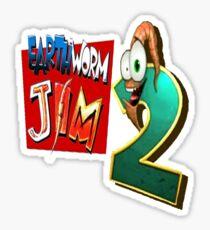 Earthworm Jim - EWJ2 Logo Sticker