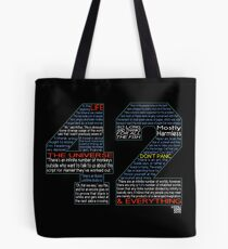 Hitchhiker's Guide 42 Quotes Tote Bag