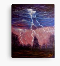Thunder and lightning storm Canvas Print
