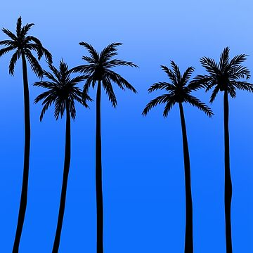 Blue Skies Palm Trees by indicap