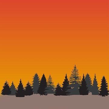 Pine Trees Sunset by indicap