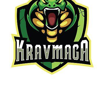 Kickass Cool Krav Maga Cobra Design by loumed