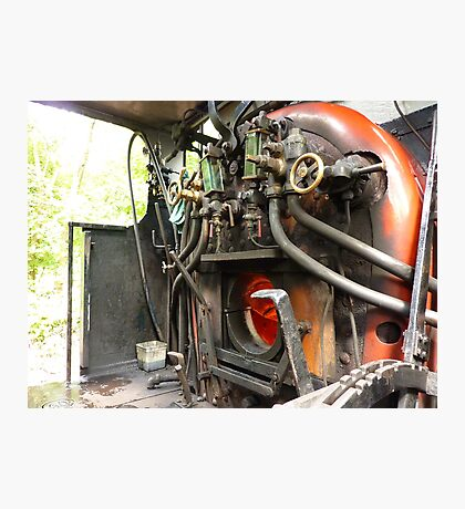 Faceplate of Repulse engine No 3698   Photographic Print