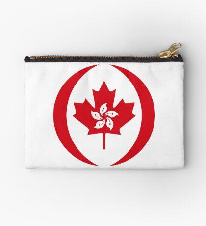 Hong Konger Canadian Multinational Patriot Flag Series Zipper Pouch