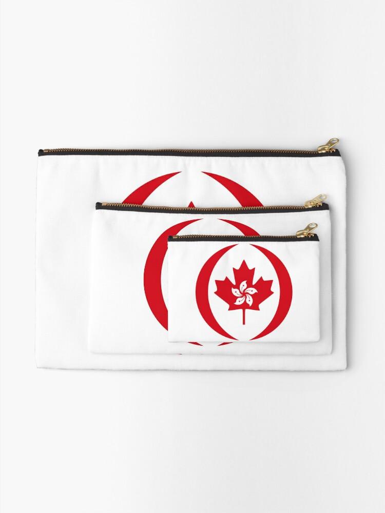 Alternate view of Hong Konger Canadian Multinational Patriot Flag Series Zipper Pouch