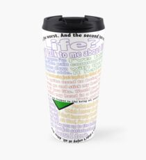Hitchhiker's Guide Marvin Quotes Travel Mug