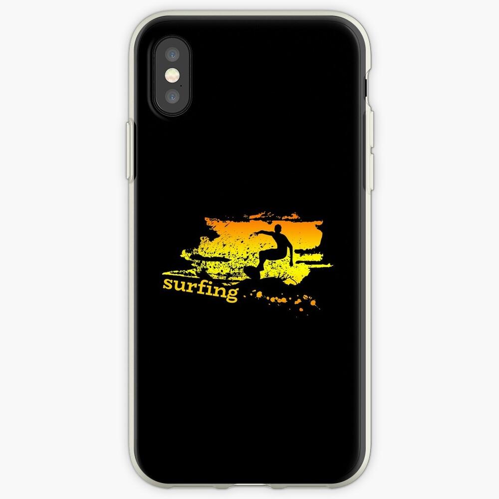 Surf surf surfistas surf tabla surf ola regalo Funda y vinilo para iPhone