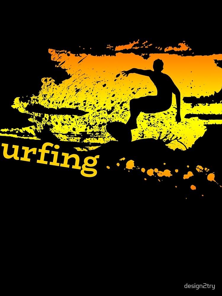 Surf surf surfistas surf tabla surf ola regalo de design2try