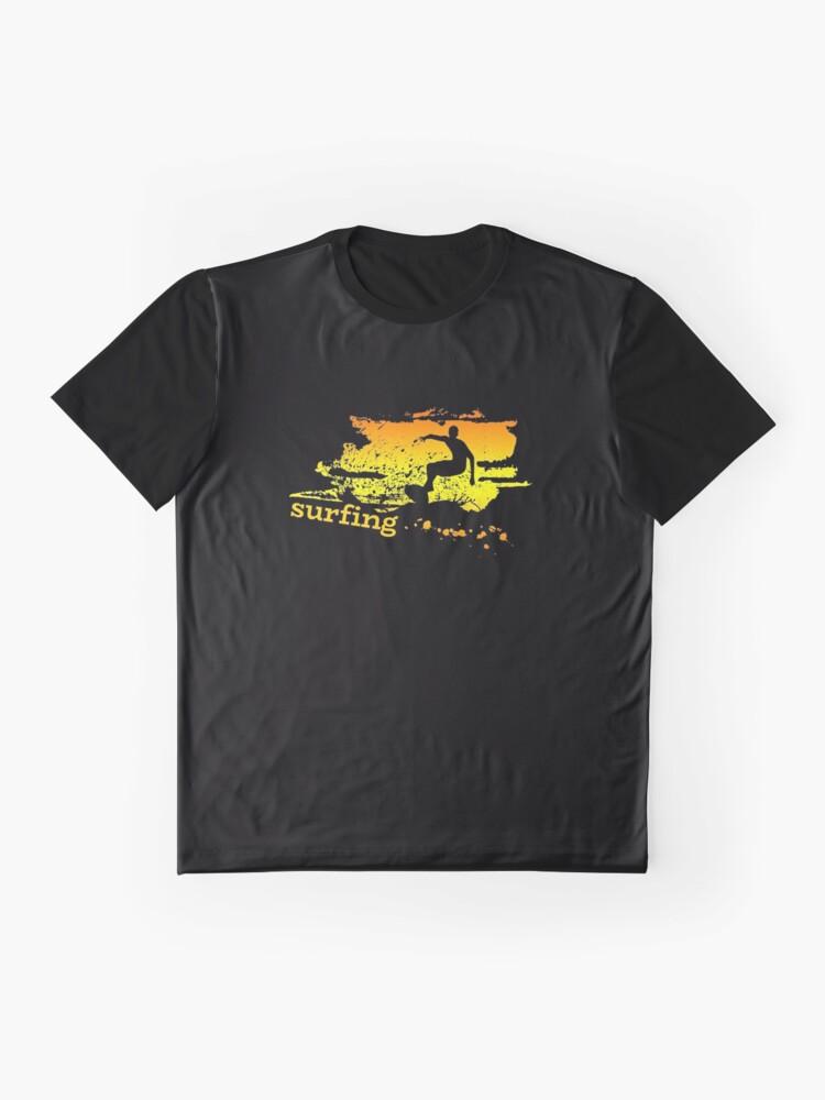 Vista alternativa de Camiseta gráfica Surf surf surfistas surf tabla surf ola regalo