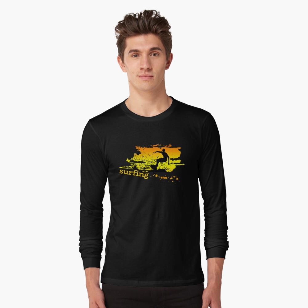 Surf surf surfistas surf tabla surf ola regalo Camiseta de manga larga