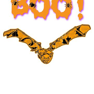 Boo! Bat Happy Halloween Holiday T shirt by we1000