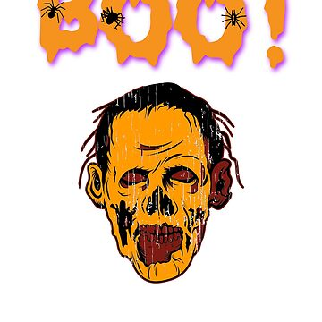 Boo! Zombie Halloween Holiday T shirt by we1000
