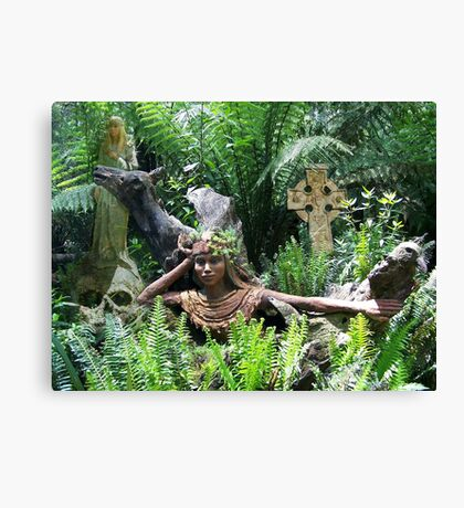 Celtic Goddesses and cross Canvas Print