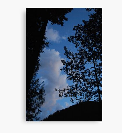 Blue Sky Evening Canvas Print