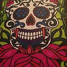 Stained Glass Sugar Skull  by PETAbstractA