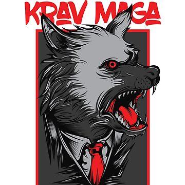 Badass Krav Maga Wolf Design by loumed