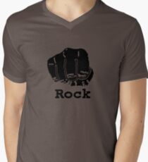Rock Paper Scissors T-shirt (ROCK) Men's V-Neck T-Shirt
