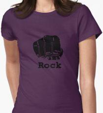 Rock Paper Scissors T-shirt (ROCK) Womens Fitted T-Shirt