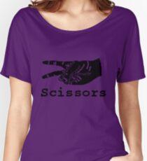 Rock Paper Scissors T-shirt (SCISSOR) Women's Relaxed Fit T-Shirt