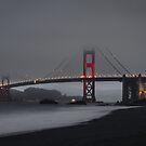 Golden Gate Bridge in the Fog by TPRVisuals