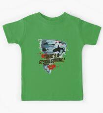 Shark Tornado - Shark Cult Movie - Shark Attack - Shark Tornado Horror Movie Parody - Storm's Coming! Kids Clothes