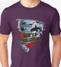 Shark Tornado - Shark Cult Movie - Shark Attack - Shark Tornado Horror Movie Parody - Storm's Coming! T-Shirt