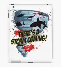 Shark Tornado - Shark Cult Movie - Shark Attack - Shark Tornado Horror Movie Parody - Storm's Coming! iPad Case/Skin