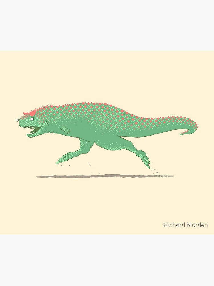 Carnotaurus cavorting in the Cretaceous by morden