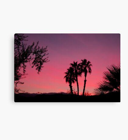 Vivid Desert Sunset Canvas Print