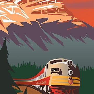 Viaje en tren retro de SFDesignstudio