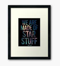 We Are Made of Star Stuff - Carl Sagan Quote Gerahmtes Wandbild