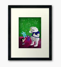 Yeti's Bubbles Framed Print