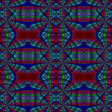 Newton Raphson Fractal Seamless Pattern XII by shane22