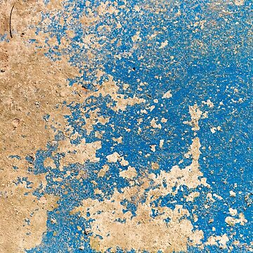 Rich Blue & Orange Surface by textural