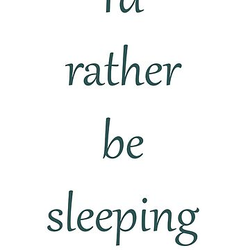 Sleeping by funflirtydesign