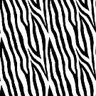 Black & white zebra fur pattern 03 by InnaPoka