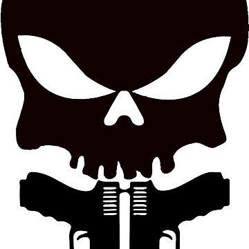 Black Skull and Guns  by FayeLangoulant