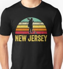New Jersey Treasure Finding Apparel Metal Detecting Gift Unisex T-Shirt