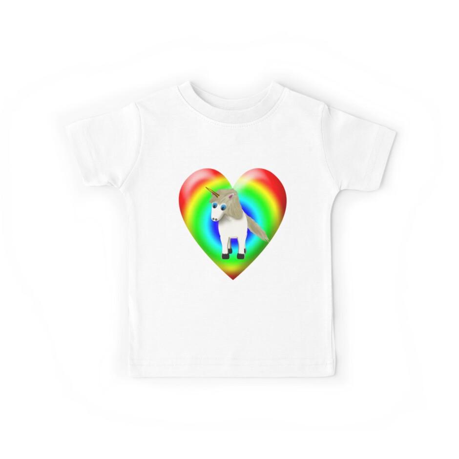 Magical Unicorn And Rainbow Heart by Chere Lei