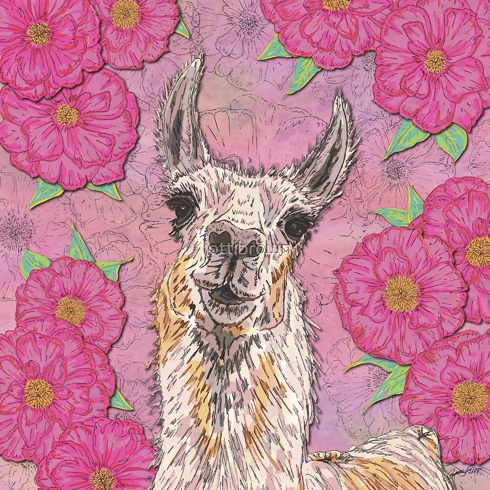 Perfectly Pink Llama by lottibrown