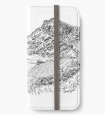 La ligne d'horizon emblématique d'Édimbourg vue du siège d'Arthur Étui portefeuille/coque/skin iPhone