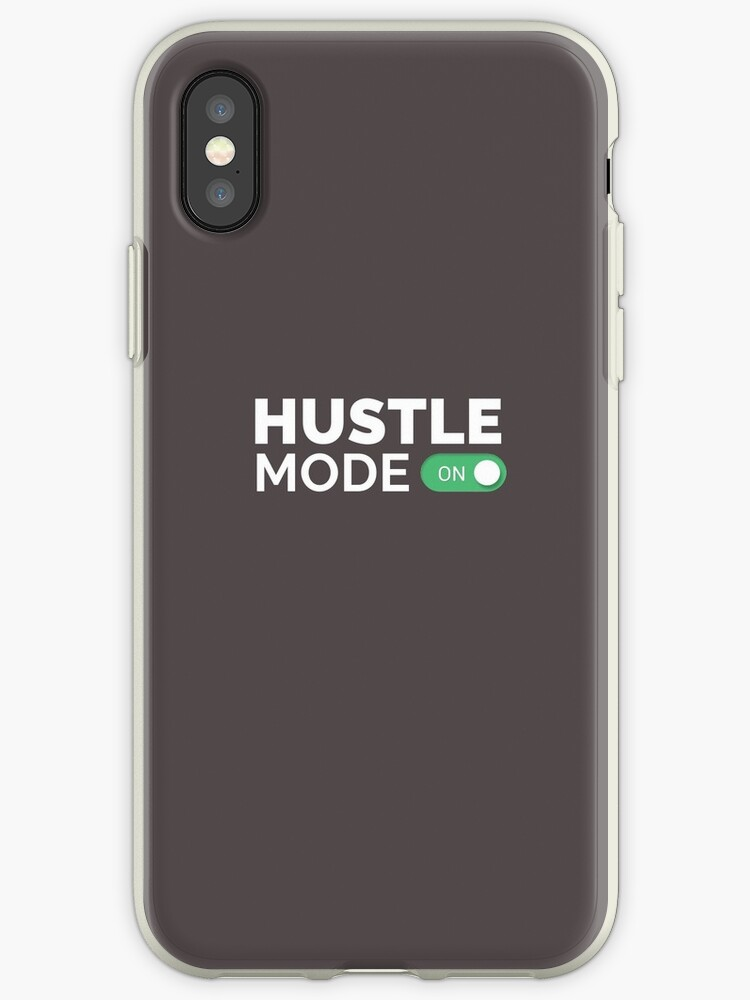 pretty nice 6ac84 4e782 'HUSTLE MODE ON - Startup/Entrepreneur Motivational Business Quotes  T-shirts' iPhone Case by funnyclan