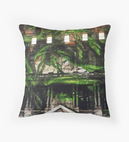 Vines in the Clocktower Throw Pillow