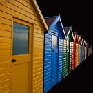 Beach huts by LAURANCE RICHARDSON