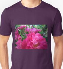 Bright Pink Magenta Purple Rose Blossoms Unisex T-Shirt