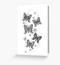 Just Add Colour -Butterfly Sparkle Greeting Card