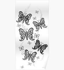 Just Add Colour -Butterfly Sparkle Poster